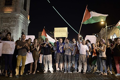 Protest in Yafo (Jaffa). Photo by: Tomer Neuberg/Flash90