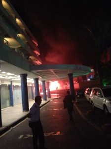 Rocket hits Eilat Hotel 3