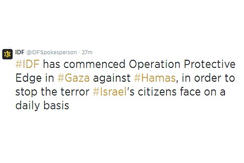 Twitter Operation Protective Edge