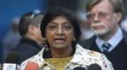 UNHRC High Commissioner Navi Pillay is calling for an investigation of Israel's military actions in Gaza. (archive photo)