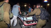 An IDF soldier is taken to the hospital after an attack from Gaza, which injured 4 soldiers (2012).