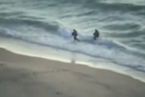 Hamas terrorists try to enter Israel by sea, July 9, 2014