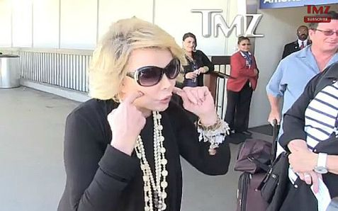 Jewish Comedienne Joan Rivers gives an impromptu speech on why Hamas should be wiped out. (July 2014)