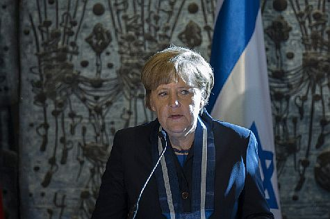 German Chancellor Angela Merkel in Jerusalem at the President's Residence, February 2014 (archive)