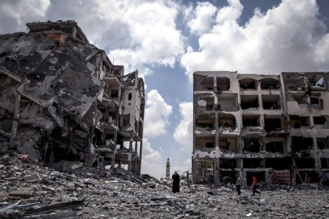 Destruction in Gaza during Operation Protective Edge, summer 2014.