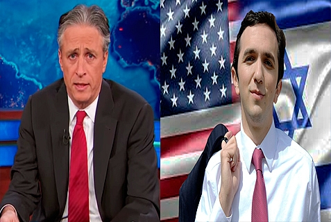Jon Stewart's The Daily Show wanted Josh Nass (right) to talk about Obamacare, but instead, Nass challenged Jon Stewart to a debate about Israel. Nothing doing.