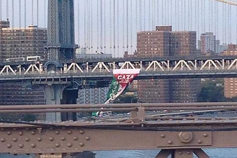 PA Flag on Brooklyn Bridge 2