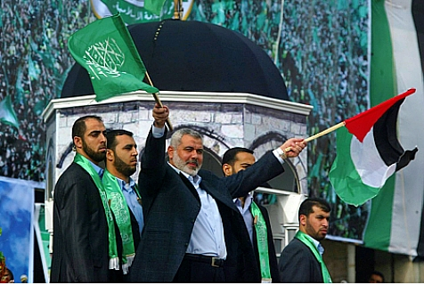 Hamas' Ismail Haniyeh would replace Abbas chairman of the Palestinian Authority if elections were held today.