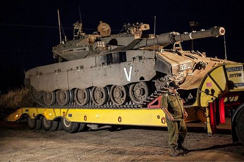 The IDF pulled tanks out of Gaza before the ceasefire ended.