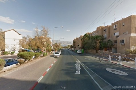 Los Angeles Street in Eilat.