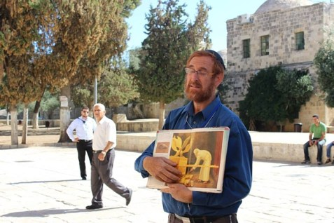Rabbi Yehudah Glick on the Temple Mount.