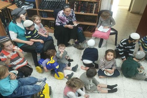 children's play group in Old City sponsored by Ateret Cohanim