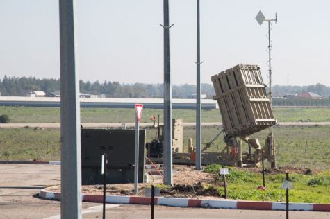 An Iron Dome systems on the Golan Heights