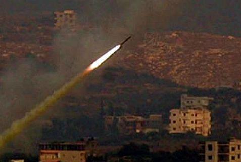 Hezbollah rocket headed for Haifa in the Second Lebanon War in 2006.