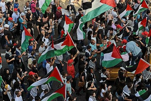 Israeli Arabs in Nazerth protest against Israel's