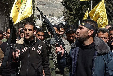The Fatah party's Al Aqsa Martyrs Brigades in Balata.
