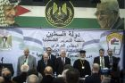 PA/PLO Chairman Mahmoud Abbas addresses Central Committee convention in Ramallah.