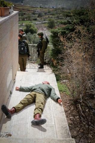 Injured IDF Training Drill