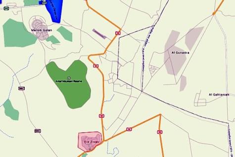 Ein Zivan map