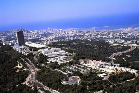 Haifa University, and the surrounding roads and other areas leading to the campus.