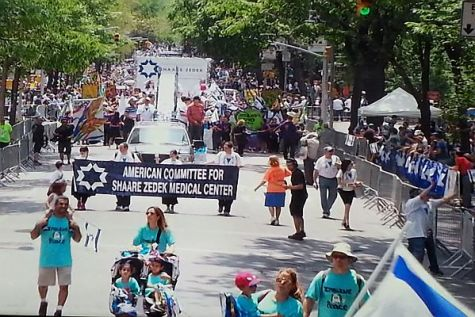 Jerusalem's Shaare Zedek Medical Center was also represented at the parade.