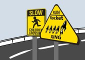 Rocket crossing!