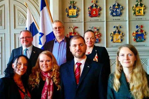 members of the new pro-Israel Voice of Israel Scandinavia