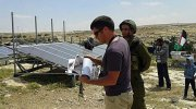 Photo of solar panels donated to Arabs who are paid by the European Union and leftist organizations to live close to Jewish Susiya.