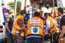 Hatzalah volunteers responding.