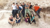 The high school students that worked this summer in the archaeological excavation at Shlomi. Karen Covello-Paran, Israel Antiquities Authority.