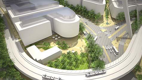 An artist's rendering of Jerusalem Gateway