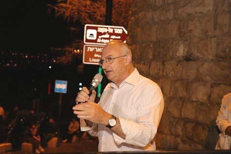 Former MK Aryeh Eldad / Photo credit: Gershon Elinson