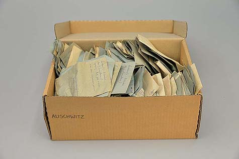Auschwitz personal belongings – letters / Photo: Paweł Sawicki