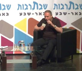 Avigdor Lieberman threatening Ismail Haniyeh