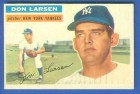Don Larsen's 1956 Topps baseball card.