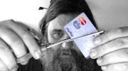 Cutting PayPal card