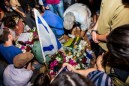 The funeral of the three kidnapped teenagers Gil-Ad Shaar, Naftali Frenkel and Eyal Yifrach.