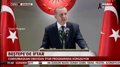 Erdogan speaking at Iftar Wednesday night