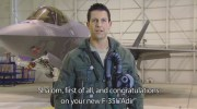 "IDf's new F-35 and ""Animal"", the American pilot who flew it to Israel."