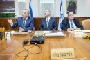 Israeli Prime Minister Benjamin Netanyahu leads the weekly cabinet meeting at the Prime Minister office in Jerusalem on May 22, 2016.