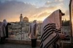 Prayers at Sunrise in Jerusalem