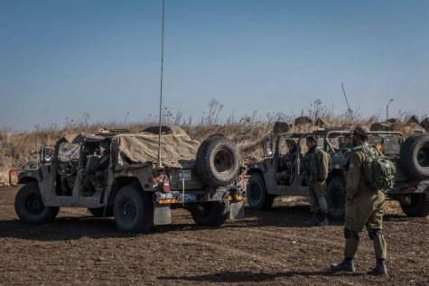 IDF on Syrian border