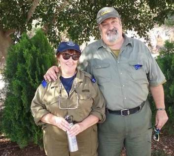 Perri and Ira Plitt on an IDF base.