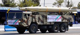 Fateh-110 missiles on parade