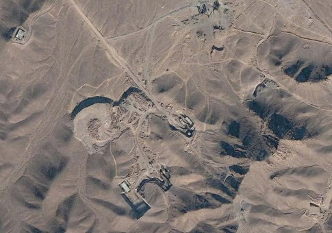 The Fordow nuclear facility, satellite image / Photo credit: cryptome.org