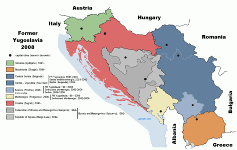 Seven independent states and more autonomous regions eventually emerged from the former Yugoslavia.