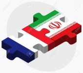 France and Iran Flags intelrocked