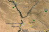 Google image of northern Iraqi area, including city of Mosul and Erbil to the east.