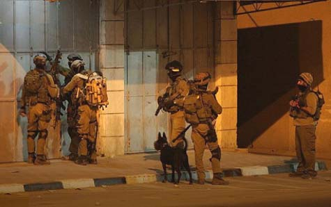 Givati soldiers looking for Otniel killer