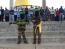 Arab children, dressed as armed Hamas terrorists on the Temple Mount - Sept 12, 2016
